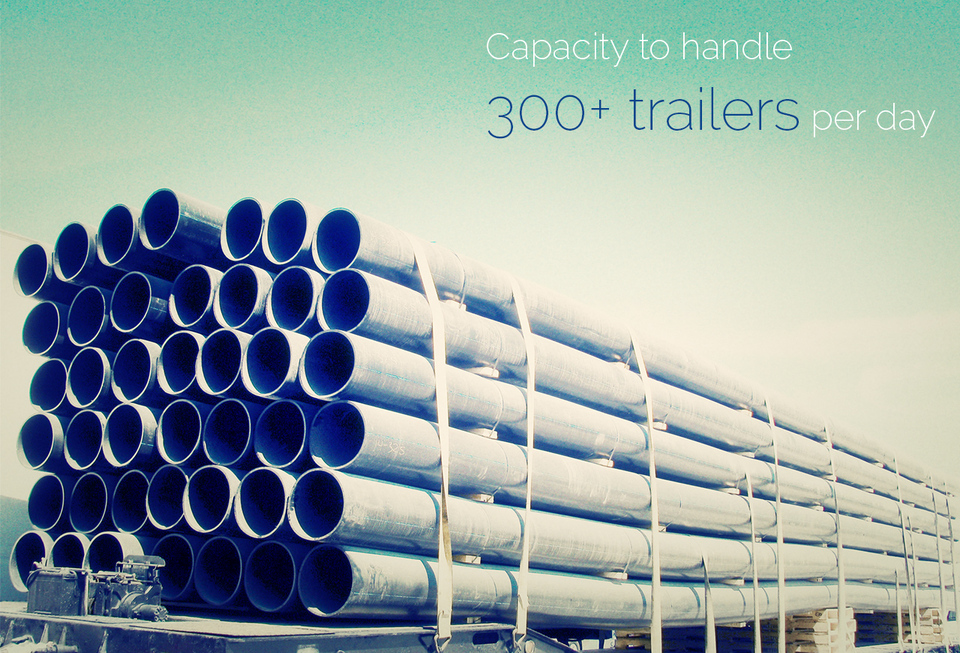 Capacity to handle 300  trailers per day